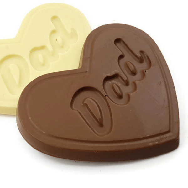 Dad Heart Shaped Chocolate Bar