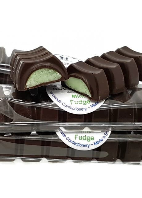 Chocolate Bar filled with Mint Fudge