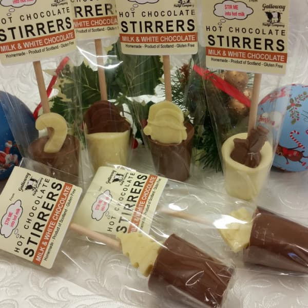Christmas Hot Chocolate Stirrers - it's perfect for our marshmallows.