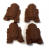 Android Robot Sci-Fi Chocolates - small 4Pk