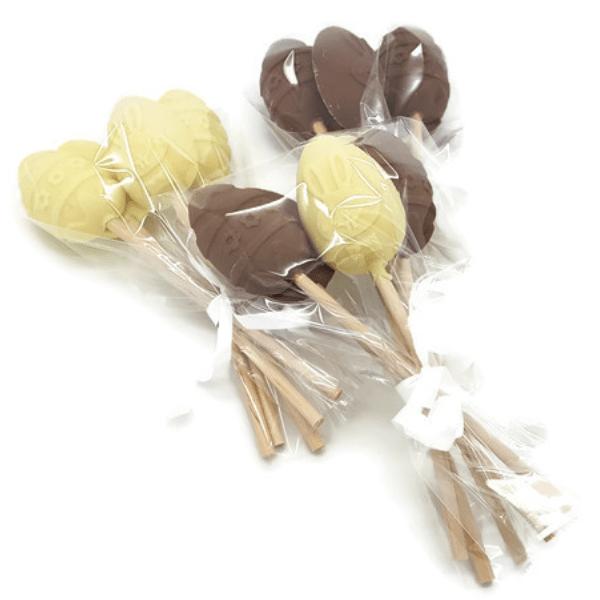 Chocolate Egg Lollipops - 5pk