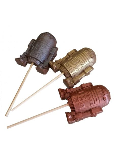 Android Robot Sci-Fi Chocolate Lollipop ~ Large