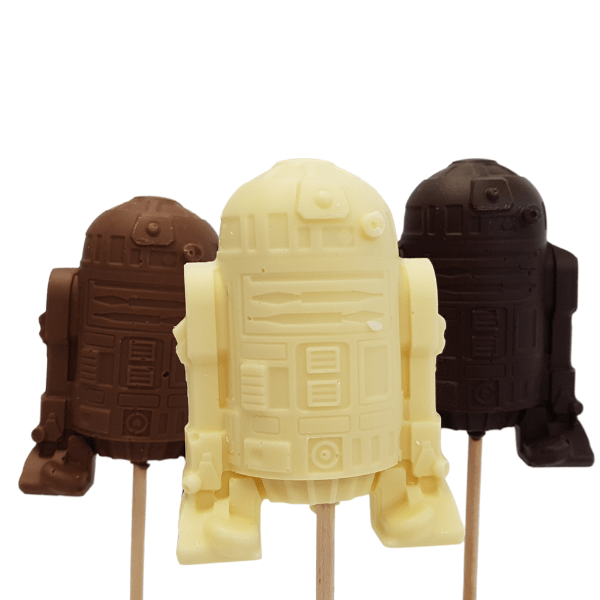Android Robot Sci-Fi Chocolate Lolly - large