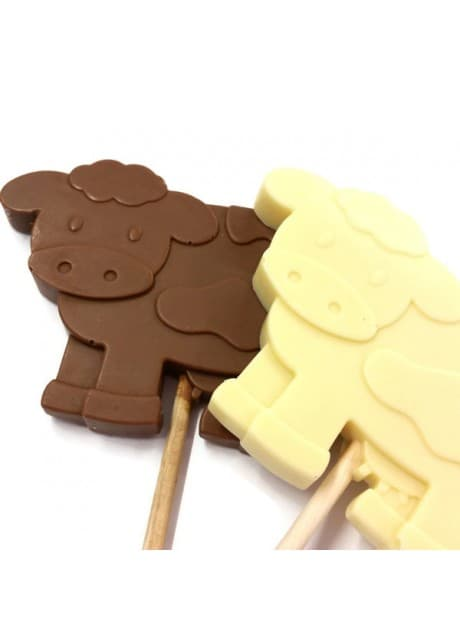 Chocolate Dairy Cow Lolly - Large