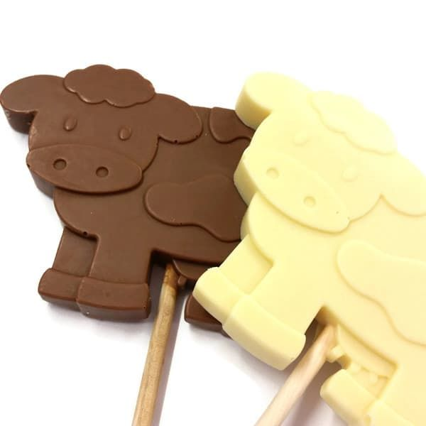 Dairy Cow Chocolate Lolly - Large