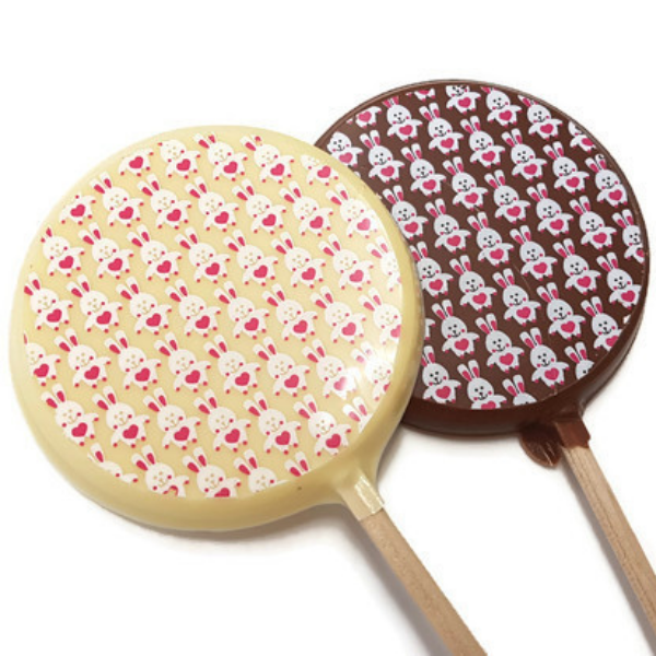 Funny Bunny Chocolate Lolly