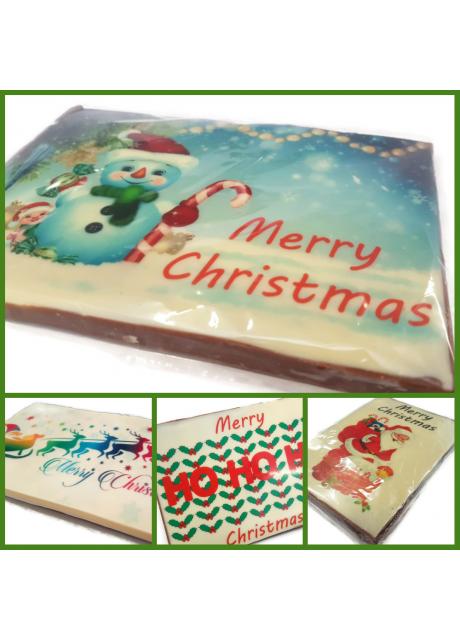 Merry Christmas Chocolate Bar