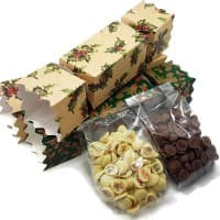 Christmas Chocolate Drops in Festive Cracker