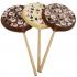 Belgian Chocolate Snowmen Lollipop