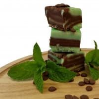 Minty Chocolate Swirl Fudge