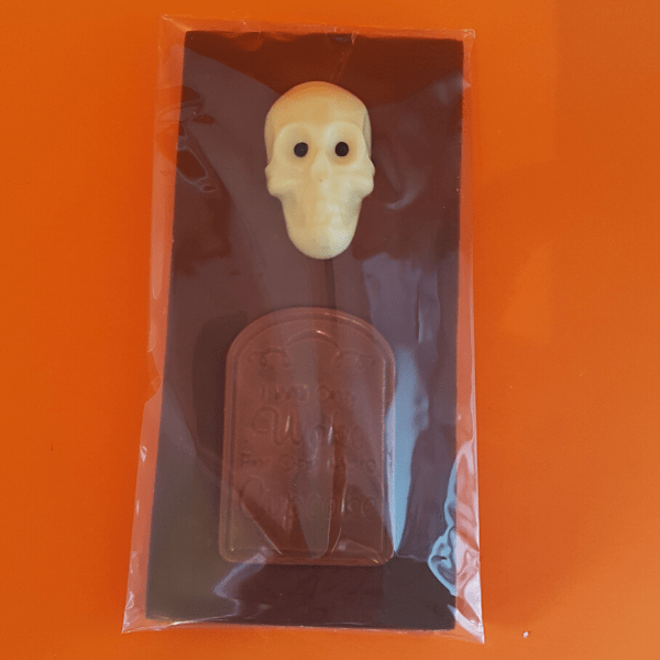 Chocolate Bar with Skull and Headstone
