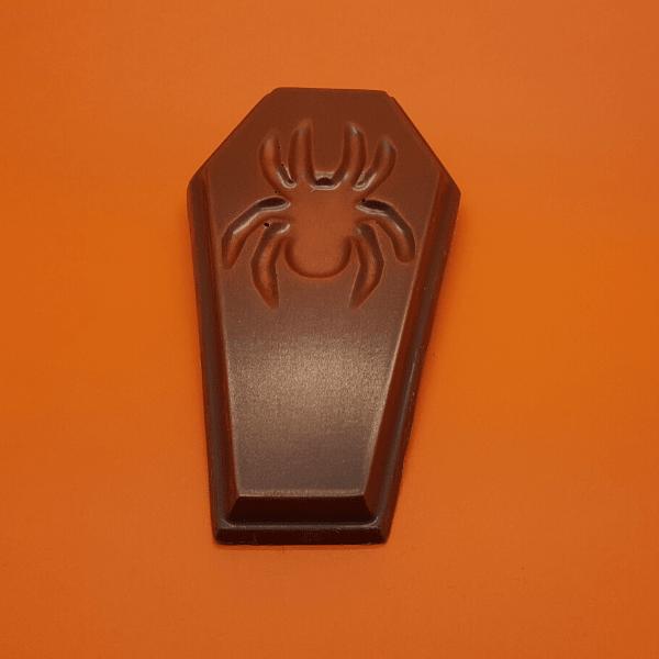 Creepy Spider Milk Chocolate Coffin Bar