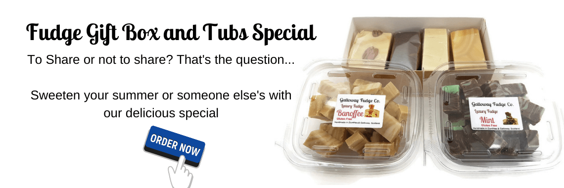 400g Fudge Gift Box and Tubs Special