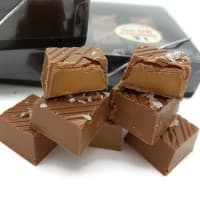 Sea Salt Caramels in Belgian Milk Chocolate - Box of 6