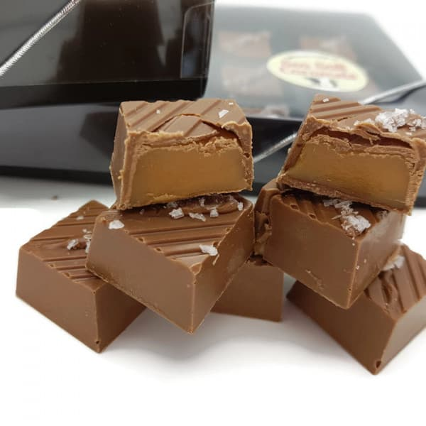 Sea Salt Caramels in Belgian Milk Chocolate - Box of 12
