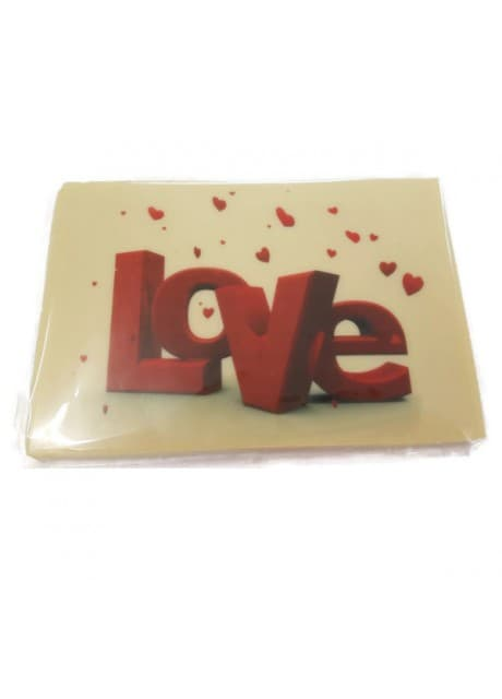 "Valentines Chocolate Bar ""Love"""